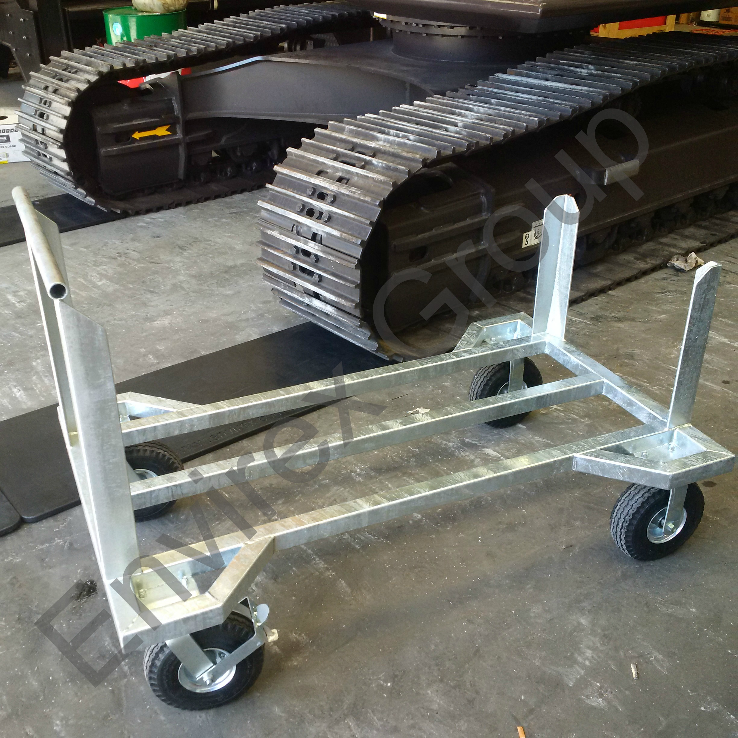 MEGATRAX Workshop Floor Protection Mats Storage Trolley