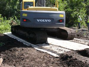 Portable Roadway for Steel Tracked Excavator