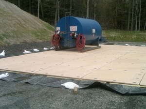 Megadeck is ideal for oil field matting